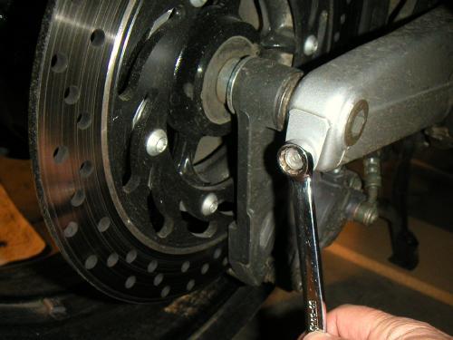 FJR1300 Rear Wheel Removal